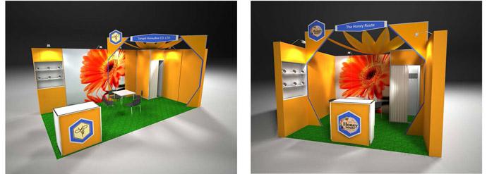 Sungard Exhibition Stand Zone : The concept of apiexpo apimondia